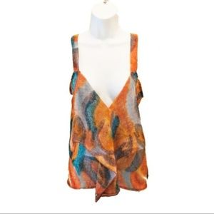 POETRY Orange Colorful Pattern Tank Small